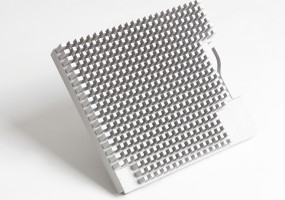 Fibre Optic Pin Heatsink - Top (dims. 230x200x40mm)