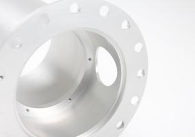 CNC Machined Aluminium Communication Housing (dims. big dia - 160mm, small dia - 110mm)