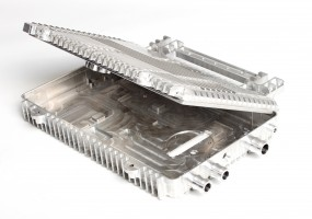 CNC Machined Aluminium Electronic Enclosure (dims. 240x160x30mm)