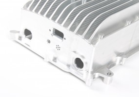 CNC Machined Electronic Heatsink Housing - close up (dims. 250x210x100mm)