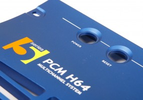 Pro Audio machined front panel from Aluminium extrusion, anodised and painted