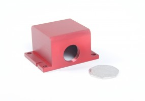 Red Anodised CNC Machined Housing