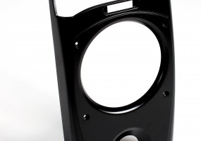 Audio Equipment Front Panel - Finish Semi Gloss Flat Black (dims. 320x200x45mm)